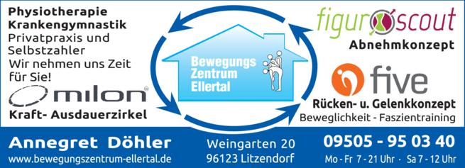 Anzeige Bewegungszentrum Ellertal