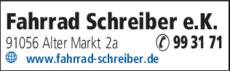 Anzeige Fahrrad Schreiber e.K.