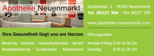 Anzeige Apotheke Neuenmarkt