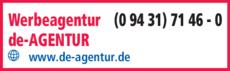 Anzeige Werbeagentur de AGENTUR