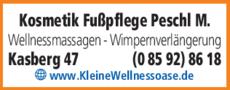 Anzeige Kosmetik Fußpflege Peschl M.