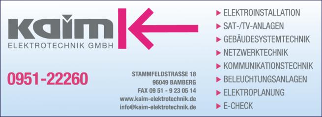 Anzeige Kaim Elektrotechnik GmbH