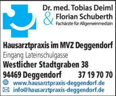 Anzeige Deiml Tobias Dr. u. Schuberth Florian