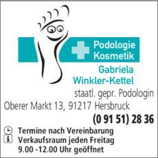 Anzeige Podologie Winkler-Kettel Gabriela