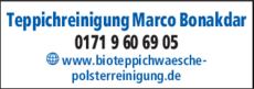 Anzeige Teppichreinigung Marco Bonakdar