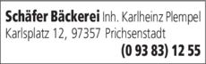 Anzeige Schäfer Bäckerei