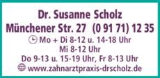 Anzeige Scholz Susanne Dr.