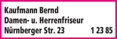 Anzeige Kaufmann Bernd