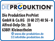 Anzeige Die Produktion PrePrint GmbH & Co.KG