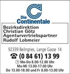 Anzeige Götz Christian - Die Continentale