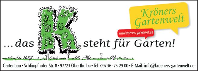 Anzeige Gartenbau Gartenwelt Kröner