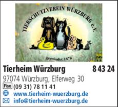 Anzeige Tierheim Würzburg