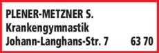 Anzeige CMD Krankengymnastik Heilpraktikerin für Physiotherapie Metzner-Plener