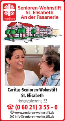 Anzeige Caritas-Senioren-Wohnstift St. Elisabeth