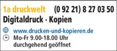 Anzeige 1a druckwelt