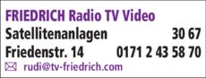 Anzeige Friedrich Radio