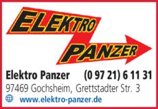Anzeige Elektro Panzer Inh. Gerald Haas