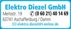 Anzeige Elektro Diezel GmbH