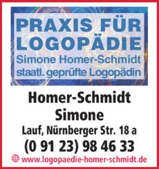 Anzeige Logopädie Homer-Schmidt Simone