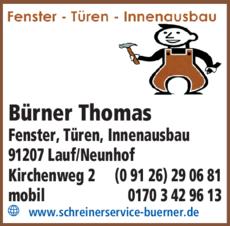 Anzeige Bürner Thomas
