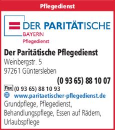 Sozialstation Der Paritatische In Guntersleben In Das Ortliche