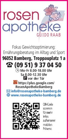 Anzeige Rosen Apotheke