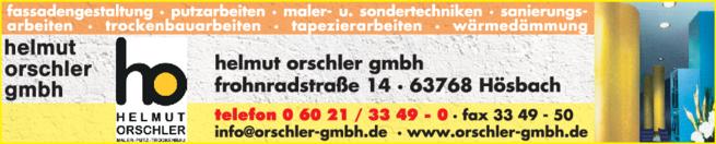 Anzeige Orschler Helmut GmbH