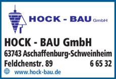 Anzeige HOCK - BAU GmbH