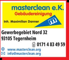 Anzeige Gebäudereinigung masterclean