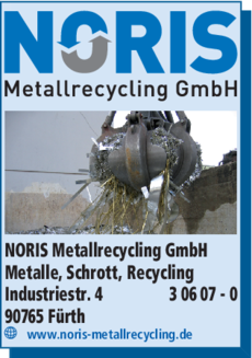 Anzeige NORIS Metallrecycling GmbH