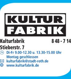 Anzeige Kulturfabrik