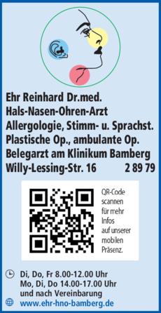 Anzeige Ehr Reinhard Dr.med.