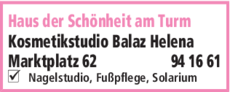 Anzeige Kosmetik Balaz Helena