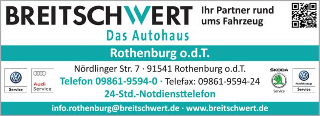 Anzeige Breitschwert das Autohaus