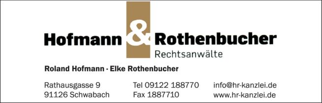 Anzeige Hofmann & Rothenbucher