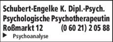 Anzeige Schubert-Engelke K. Dipl. -Psych.