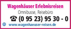 Anzeige Wagenhäuser Reisebüro