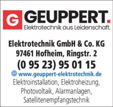 Anzeige Elektro Geuppert GmbH & Co. KG