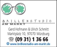 Anzeige Optik Brillenstudio am Markt, Inh. Gerd Hofmann & Ulrich Schmitt
