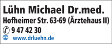 Anzeige Lühn Michael Dr.med.