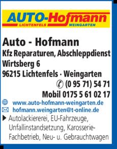 Anzeige Auto - Hofmann
