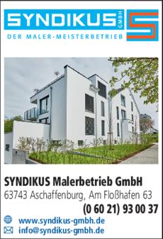 Anzeige SYNDIKUS Malerbetrieb GmbH