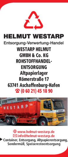 Anzeige WESTARP HELMUT GMBH & Co. KG