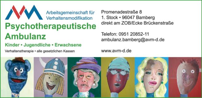 Anzeige Psychotherapie AVM