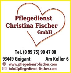 Anzeige Fischer Christina GmbH, Ambulanter Pflegedienst