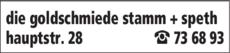Anzeige die goldschmiede stamm sabine + speth helga