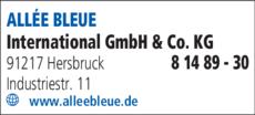 Anzeige ALLEE BLEUE International GmbH & Co. KG