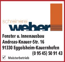 Schreinerei Weber schreinerei weber in eggolsheim in das örtliche