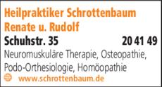 Anzeige Heilpraktiker Schrottenbaum Renate u. Rudolf