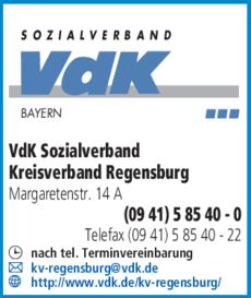 Vdk Sozialverband In Regensburg In Das örtliche